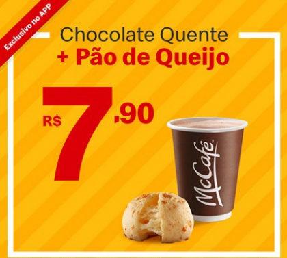 Chocolate Quente + Pão de Queijo por apenas R$ 7,90!