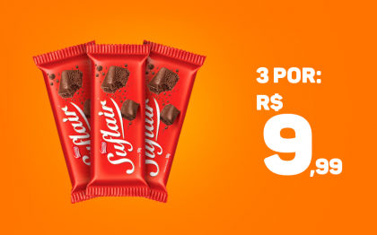 3 Chocolates Suflair 50g por apenas R$ 9,99!