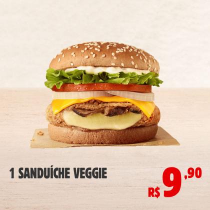 1 Burger Veggie por apenas R$ 9,90!