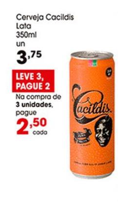 Cerveja Cacildis Lata 350ml por apenas R$ 2,50 na compra de 2 unidades! [+18]