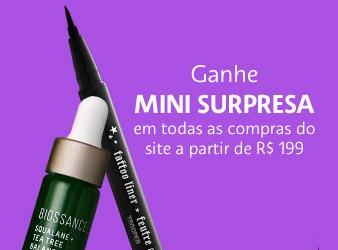 GANHE uma mini surpresa nas compras acima de R$199 no site da Sephora