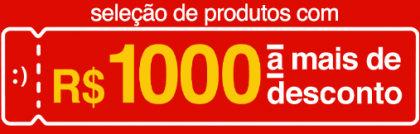 Cupom de R$1000 em produtos selecionados na Americanas.com