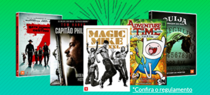 15% OFF na categoria Filmes