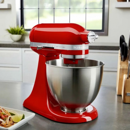Cupom de  20% OFF na Batedeira Stand Mixer KitchenAid Artisan Mini Hot Sauce no site