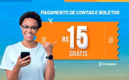 Ganhe R$15 em Pagamento de Contas para novos usuários RecargaPay!