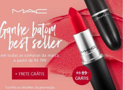 GANHE um batom MAC em todas as compras da marca no site da Sephora