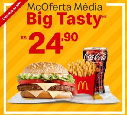 McOferta Média BigTasty por apenas R$ 24,90!