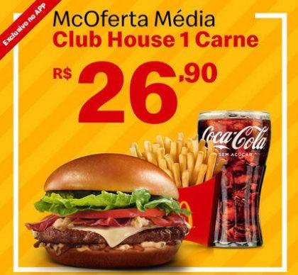 McOferta Média Club House 1 Carne por apenas R$ 26,90!