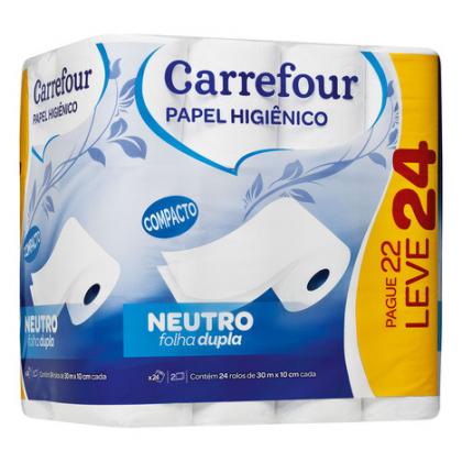 Papel Higiênico Carrefour com 20% de desconto!