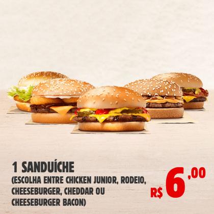 1 Sanduíche por apenas R$ 6,00!