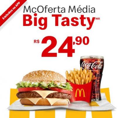 McOferta Média Big Tasty por apenas R$ 24,90!