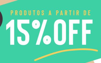 15% OFF no site todo!