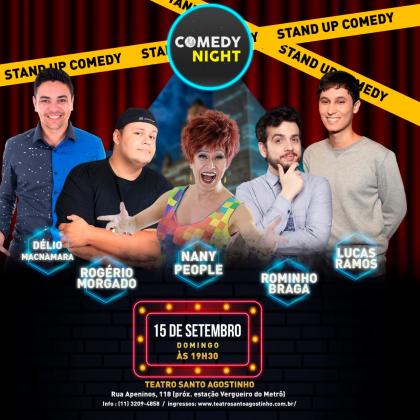 COMEDY NIGHT – Stand up Comedy: Ingresso por apenas R$29,90!