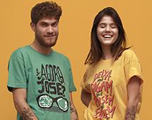2x1 em camisetas selecionadas no Chico Rei