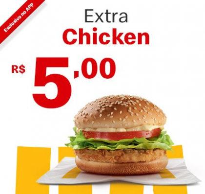 Extra Chicken por apenas R$ 5,00!