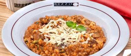 TODOS os pratos do cardápio Rizzo com 10% de desconto!
