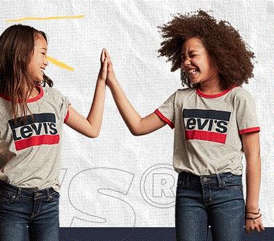 Linha Kids  a partir de R$ 59,90 no site da Levi's