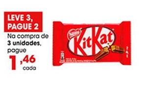 Chocolate Kit Kat por apenas R$ 1,46 na compra de 3 unidades!
