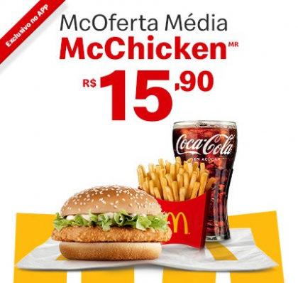 McOferta Média McChicken por apenas R$ 15,90!