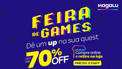 Especial Feira de Games: Aproveite ofertas com até 70% OFF!