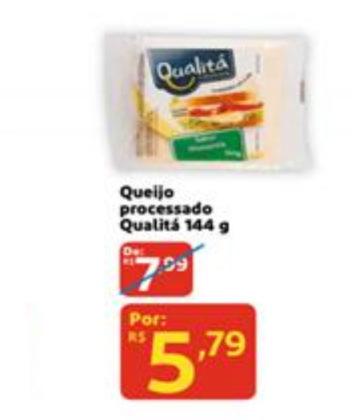 Queijo Processado Qualitá 144g por apenas R$ 5,79!