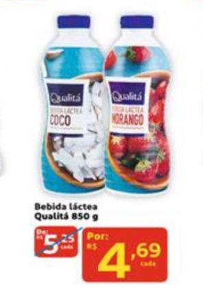 Bebida Láctea Qualitá 850g por apenas R$ 4,69!