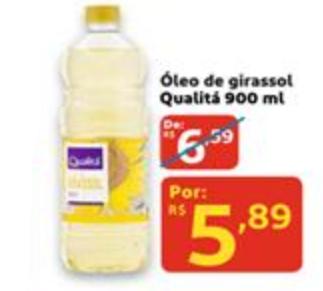 Óleo de Girassol Qualitá 900ml por apenas R$ 5,89!