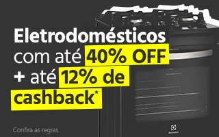 Até 40% OFF + 12% de cashback em eletrodomésticos no site da Submarino