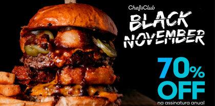 Black November: Assinatura Anual Chefs Club com 70% de desconto!