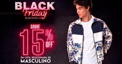 Black Friday Riachuelo: Produtos Masculinos com 15% de desconto!