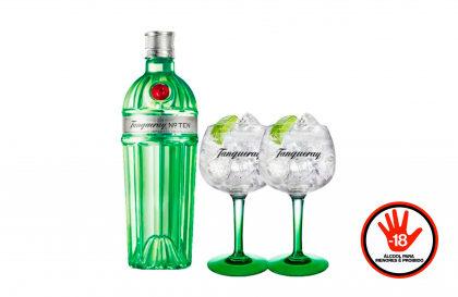 Combo Gin Tanqueray Ten 750ml + 2 Taças Tanqueray por apenas R$ 159,90! [+18]