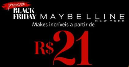 Prepara Black Friday: Mabelline com makes a partir de R$21 no site da Sephora