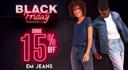 Black Friday Riachuelo: Peças Jeans com 15% de desconto!