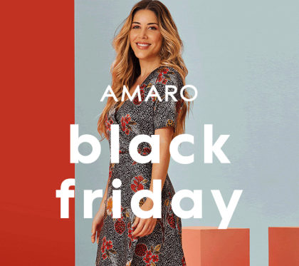 Black Friday: até 70% OFF no site da AMARO