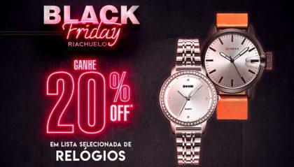 Black Friday Riachuelo: Desconto de 20% em relógios!