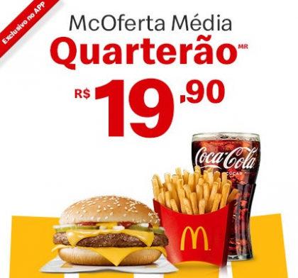 McOferta Média Quarterão por apenas R$ 19,90!