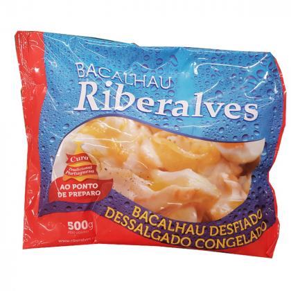Bacalhau Porto Desfiado Congelado Ribeiralves Dessalgado 500g com 20% de desconto!