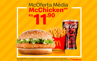 McOferta Média McChicken R$11,90