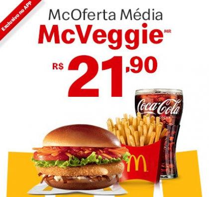 McOferta Média McVeggie por apenas R$ 21,90!
