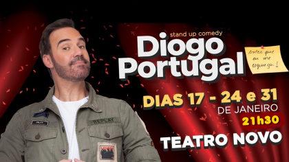 Ingressos para o espetáculo Diogo Portugal – Stand Up Comedy por apenas R$ 25,00!