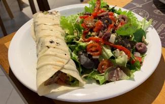 Wrap + Salada + Suco por apenas R$21,60!