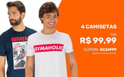Cupom: 4 Camisetas por R$99 na Centauro!