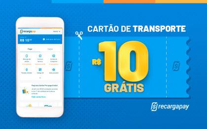 Cupom de R$10 OFF em Recarga de Cartão Transporte para novos usuários RecargaPay!