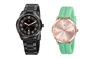 Até 45% OFF + 50% OFF na compra da segunda peça em seleção de Relógios no site da C&A