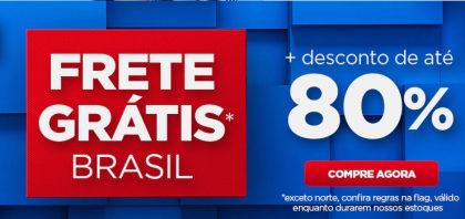 Até 80% OFF + Frete Grátis no site das Casas Bahia