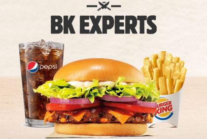 1 Combo BK Experts Queijo por apenas R$ 25,90!