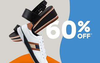 Até 60% OFF em seleção de Calçados no site da C&A