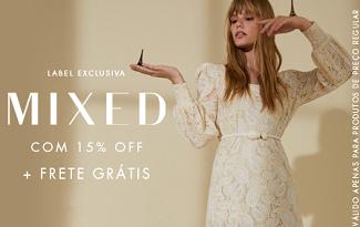 Cupom de 20% OFF e Frete Grátis em compras da marca Mixed no site da Shop2Gether