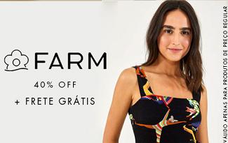 Cupom de 40% OFF + Frete Grátis em compras de FARM no site da Shop2Gether