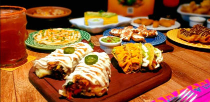 Peça em casa: Rodízio Mexicano para 2 Pessoas + Sobremesa + Bebidas apenas R$ 71,99!